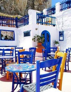 Astypalaia Greece Tours, Greece Travel, Greek Decor, Beautiful Places, Beautiful Pictures, Greece Islands, Mediterranean Homes, Al Fresco Dining, Belle Photo