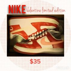 best service 5bf10 f7a0a Nike red Air Force ones 5.5 Nike Air Force ones valentines addition