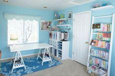 atelier, blue, craft, craft room, decorating, interior decorating