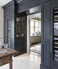 Open into pantry/ side facing cabinetry Beautiful Butler& Pantry. Open into pantry/ side facing cabinetry Beautiful Butler& Pantry… – Gre… Open into pantry/ side facing cabinetry Beautiful Butler& Pantry… – Greige Design House Design, House, Transitional House, Remodel, Home Remodeling, New Homes, Pantry Remodel, House Interior, Butler Pantry