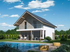 Pavla 9 | Ekonomické stavby Design Case, Home Fashion, Tuna, House Plans, Exterior, Cabin, How To Plan, House Styles, Home Decor