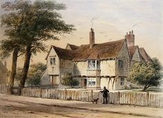 The Rectorial House, Newington Butts, 1852 (w/c on paper) Wall Art & Canvas Prints by Thomas Hosmer Shepherd