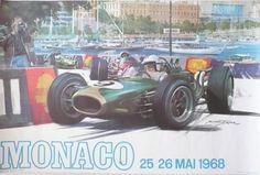 Affiche+originale+Grand+Prix+de+Monaco+F1+1968+-+Michael+TURNER