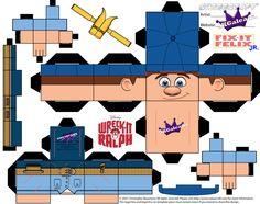 Disney Felix Jr Cubeecraft Wreck-it Ralph template by SKGaleana.deviantart.com on @DeviantArt