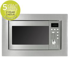 MyAppliances Built In S/Steel Microwave & Grill 20 Litres with LED in Home, Furniture & DIY, Appliances, Small Kitchen Appliances Microwave Grill, Built In Microwave, Built In Grill, Basic Kitchen, Outdoor Kitchen Design, Small Kitchen Appliances, Grilling, Stainless Steel, Led