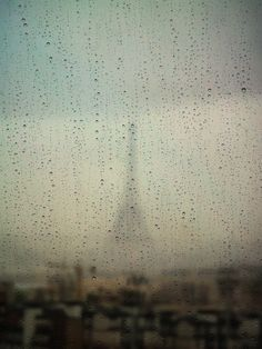 paris through raindrops