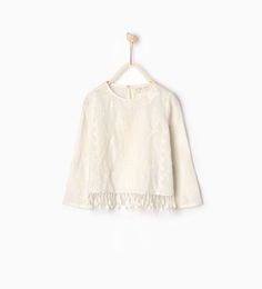 Fringed embroidered blouse