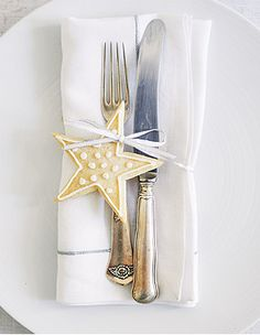 Place Setting with Star Cookie