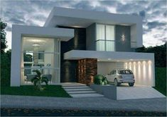 Awesome Fachadas De Casas Modernas Design Ideas for Your Home Decorating and Home Remodeling of The Years Residential Architecture, Contemporary Architecture, Architecture Design, Contemporary Design, Modern House Plans, Modern House Design, Modern Exterior, Exterior Design, Facade House