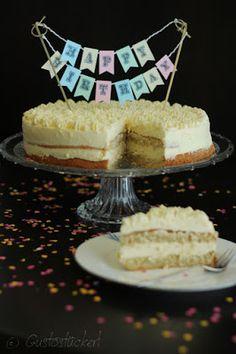 Gustostückerl : 1. Bloggeburtstag - Zitronentorte // Gustostückerls first Birthday - Lemon Cake