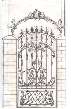 Iron stairs garden gates 33 Ideas for 2019 Wrought Iron Garden Gates, Wrought Iron Decor, Metal Gates, Iron Windows, Iron Doors, Gate Design, Door Design, Iron Stair Railing, Railings