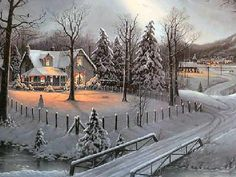 Holiday Homecoming by Jesse Barnes More Christmas Pictures, Holidays Homecoming… Christmas Scenes, Christmas Past, Christmas Pictures, Winter Christmas, Vintage Christmas, Winter Snow, Xmas, Especie Animal, Winter Scenery