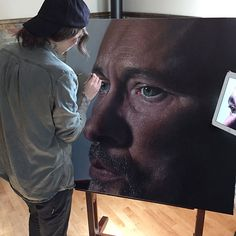 hyperrealism: ••Kit King 2015 paints eyes•• close up for their expressive details, adding distressed dimension, capturing fleeting moments of emotion of life, for a heightened sense of reality •  http://www.kitkingart.com