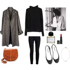A fashion look from September 2014 featuring jucca sweaters, Jean-Paul Gaultier coats and Proenza Schouler jeans. Browse and shop related looks. Work Wardrobe, Capsule Wardrobe, Cute Fashion, Fashion Outfits, Fashion Trends, Women's Fashion, Mode Style, Style Me, Minimalist Fashion French