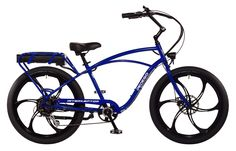 The Pedego Interceptor is the electric bike that has it all -- combining beach cruiser comfort and style with breathtaking performance and user friendly features.  The most important part of any Pedego is the person riding it, and the Interceptor is made to be the most comfortable electric bike on earth.  ● Cruiser-style frame geometry helps you enjoy a natural, upright riding position ● Extra wide, swept back handlebars allow you to sit back and relax