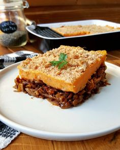 Parmentier hickory with lentils and sweet potato (vegan) - vegetarian Batch Cooking, Healthy Cooking, Cooking Recipes, Healthy Food, Veggie Recipes, Vegetarian Recipes, Healthy Recipes, Veggie Food, Tofu