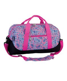 Another great find on #zulily! Pink Watercolor Ponies Sleepover Duffel Bag #zulilyfinds