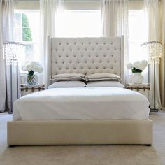 Found it at Joss & Main - Dahlia Upholstered Platform Bed this is the right bed!!!!