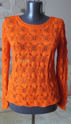 "Photo from album ""Разное спицами on Yandex. Easy Knitting, Knitting Stitches, Crochet Lace Edging, Knit Crochet, Crochet Clothes, Knitting Patterns, Golf, How To Knit, Knit Jacket"