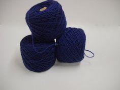Estate Sale Find:  Vintage Navy Blue Yarn Wool Yarn Spinnerin Pilgrim at StitchKnit, $9.00