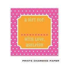 Prints Charming Paper Hot Pink & Orange Tiny Dots Sticker