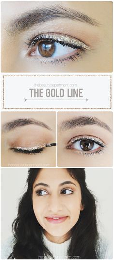 Glitter Liner is perfect for holiday parties!