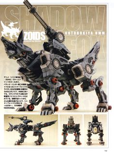 MECHA GUY: HMM ZOIDS 1/72 RZ-046 Shadow Fox - Painted Build