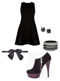 """#blackandpurple"" by nowheremarion ❤ liked on Polyvore"