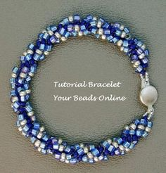 Jewelry Beading Tutorial Spiral Rope Bracelet by YourBeadsOnline, $4.99