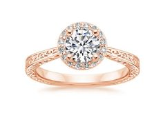 14K Rose Gold Contessa Diamond Ring