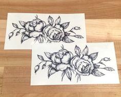 Black Roses Temporary Tattoo