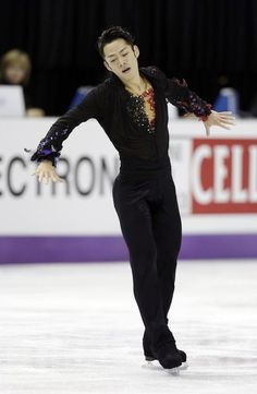 Daisuke Takahashi of Japan performsduring the men's free skate program at the World Figure Skating Championships Friday, March 15, 2013, in London, Ontario.