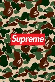 Supreme Bape Wallpaper IphoneCamo