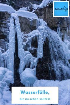 top im Winter in Bayern:  KUHFLUCHT WASSERFÄLLE - Winterwanderung Bayern. Die Kuhflucht Wasserfälle sind auch im Winter zu erreichen. Du kannst die Wanderung im Ort Farchant starten und gleich wie im Sommer auf dem Wanderweg wandern. Hier viele Bilder und alle Informationen. #kuhflucht #wasserfälle #bayern #farchant Reisen In Europa, Outdoor, Ursula, Waterfalls, Hotels, Hiking With Kids, Ski Resorts, Winter Vacations, Skiing