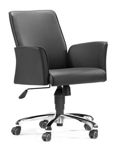 zuo modern metro office chair comfypadded body u0026 arms choose from black