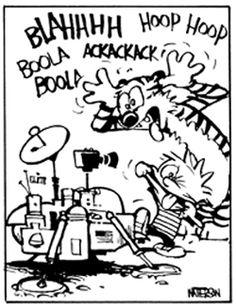 Calvin and Hobbes - BLAHHHH Hoop Hoop BOOLA BOOLA ACKACKACK