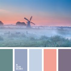 I love this color palette - the coral and blue/teal shades are lovely with the violet hues | cvetovaya-palitra-989