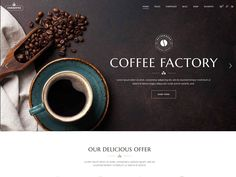 Top Quality WordPress Themes For Coffee Shop 2020 - TalkElement Restaurant Themes, Menu Restaurant, Indian Food Menu, Landing Page Examples, Coffee Theme, Coffee Images, Cool Cafe, Coffee Design, Web Design Inspiration