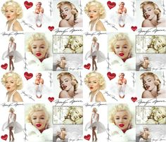 marilyn monroe fabric, wallpaper & gift wrap - Spoonflower