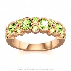 Peridot Rose Gold Ring, Colors of Eden