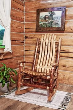 found it at wayfair char log star double rocking chair ii front