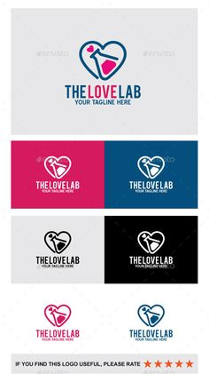 The Love Lab Logo Design Template Vector #logotype Download it here: http://graphicriver.net/item/the-love-lab/13846863?s_rank=328?ref=nexion