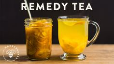Cold Remedy Tea with Honey Ginger Turmeric Citrus - Honeysuckle