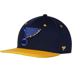a17975776e8 Fanatics Branded St. Louis Blues Navy Iconic Emblem II Adjustable Snapback  Hat