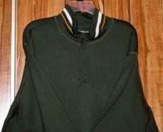 NWT Men's Croft & Barrow Green Long Sleeve Pullover Knit Shirt Size 2XL New