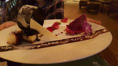 Ice Chocolate and dragon fruit