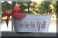 Ho Ho Ho Y'all Bins TinyTulip.com We're All About Personalization - Gifts Monogram Embriodery