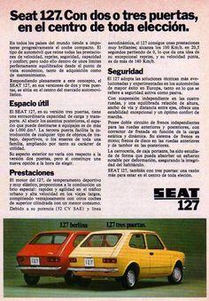 Yo fuí a EGB .Recuerdos de los años 60 y 70.La publicidad de los años 60 y 70. Seat 1430, Classic Cars Usa, Vw Group, Beach Chair With Canopy, Car Brochure, Nostalgia, Car Advertising, Old Ads, Back To The Future