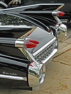 1959 Cadillac fins and taillights. American design at its best. #classiccars1959cadillac #VintageMuscleCars