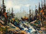 L'or bleu par Michel Bleau 12 x 16 // Huile sur toile  #Art #Nature #Landscape #Paysage #Artist #Artwork #Peinture #Painting Nature Landscape, Michel, Land Scape, Oil On Canvas, Painting, Artwork, Outdoor, Landscape, Artist